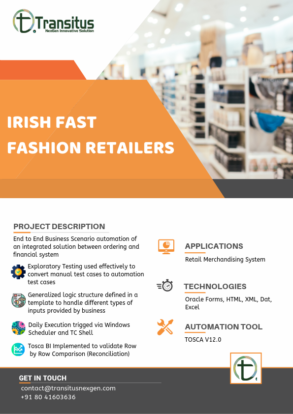 IRISH FAST FASHION RETAILERS